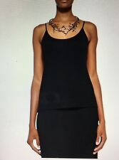 NWT L 12 14 16 Eileen Fisher Black Cami