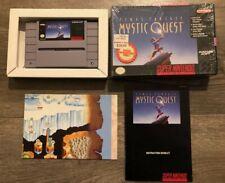 Final Fantasy: Mystic Quest (Super Nintendo Entertainment System 1992) CIB MINT!