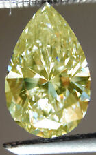 5.46 Ct Vvs1 Fancy Canary Yellow COLOR Pear LOOSE MOISSANITE For Rings/Jewelry