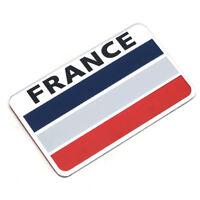 Sticker Aufkleber Emblem Flagge Logo Land Frankreich Metall selbstklebend France
