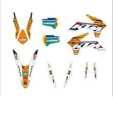KTM GRAFICHE STICKERS DHL WHITE BIANCHE EXC 2014 2015 SX 2013 2014 VARI ANNI