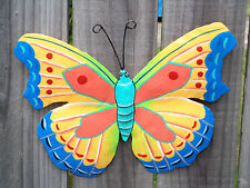BUTTERFLY Recycled Metal Garden Wall Art Ornament & Home Decoration (15x20cm)