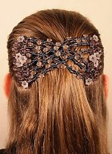 Magic Grey Flower Double Comb Stretchy Easy Hair Syling Clip new Spring Offer