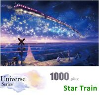 1000PCS Mini Jigsaw Puzzles Train in The Star Sky Kids Educational Toy Gift US