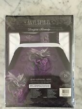 NEW ANNE STOKES DRAGON BEAUTY KING SIZE QUILT SET