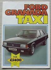 FORD GRANADA DIESEL TAXI Car Sales Brochure c1979 #FA407