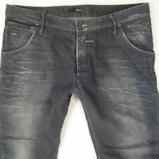 Mens G-Star RILEY LOOSE Tapered Arc Tapered Blue Jeans W40 L34