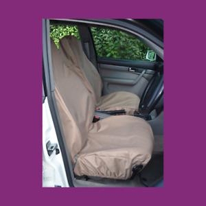 Front Car Van Beige Waterproof LARGE Universal Airbag Compatible Seat Covers