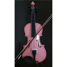 Student Acoustic Violin Full 4/4 Maple Spruce with Case Bow Rosin Pink