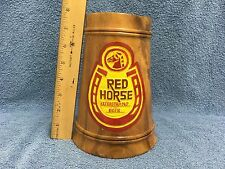 RED HORSE EXTRA STRONG BEER LARGE WOODEN STEIN/MUG, PHILIPPINES, VINTAGE GUC