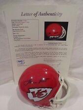 Lamar Hunt Autographed Kansas City Chiefs Mini Helmet - Full JSA LOA