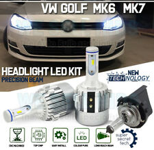 H7 G3 COB LED HEADLIGHT Bulbs KIT 7600 LM 72 W CANBUS DRL VW Golf MK6 MK7 NUOVO