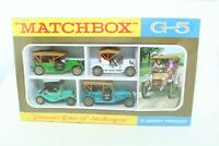 Matchbox Lesney MOY Gift Set No G-5 Famous Cars of Yesteryear - England - Boxed