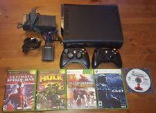 Microsoft Xbox 360,120GB, Matte Black Console, Netgear Wi-Fi Adapter + 5 Games