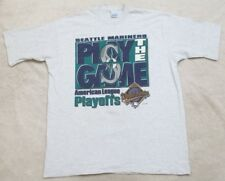 Seattle Mariners Vintage Tee Shirt 1995 Gray XL Cotton T-Shirt Play The Game Men