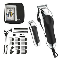 Wahl Professional Hair Cut Trimmer Kit Clippers Haircut Barber Set 25 Piece