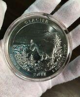 2011 ATB Glacier Park uncirculated 5 troy oz, .999 pure Montana