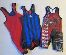 Wrestling singlet mens size XXS lot of 3 brute, adidas, Clif keen athletics
