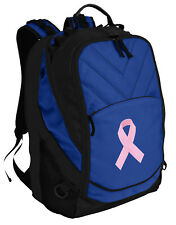 Pink Ribbon Backpack Laptop Bags Computer Backpacks