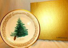 "Lenox 1978 Annual Christmas Commemorative Plate - Blue Spruce 10-5/8"" - Box"