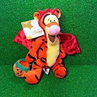 """NEW Disney Mini Bean Bag DEVIL TIGGER 9"""" Winnie The Pooh Plush Toy Tiger - MINT"""