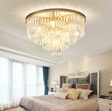 Luxury K9 Crystal Chandelier Modern Flush Mount Ceiling Light Fixture Dia 23.6