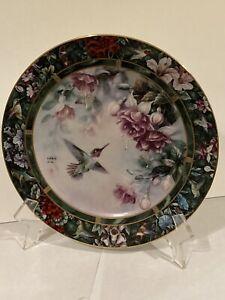 Vintage 1992 Lena Liu Decorative Plate Anna's Hummingbird