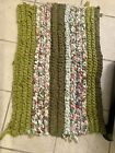 """VINTAGE HANDMADE THICK COUNTRY BRAIDED ROPE RAG RUG FLOOR MAT~ OVAL~32 X 21"""""""