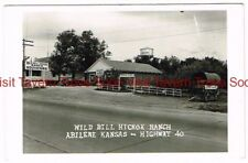 1940s Wild Bill Hickok Ranch Abilene Kansas RPPC Postcard