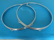 "1976 Vintage Rogers 2 13"" Rack Tom Drum Rims 6 Hole Cos Big R Era Made In Usa"