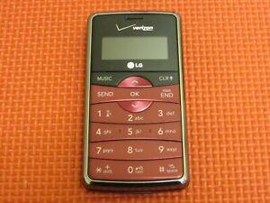 LG EnV2 VX9100M Verizon Wireless Maroon QWERTY Flip Cell Phone *Tested*