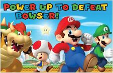 SUPER MARIO BROTHERS PARTY PIN GAME POSTER WALL DECORATION 2-8 PLAYERS