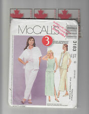 McCALLs pattern 3183 Blouse jacket Top Skirt Pants plus sz 20 22 24 uncut unused
