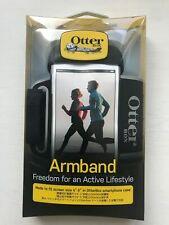 New Otterbox Universal Smartphone Armband Carrying Case - Silicone Base -Black