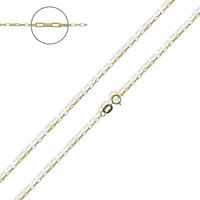 9ct Yellow Gold Paper Link Box Chain - 16 18 20 inch 1.1mm Wide HALLMARKED & BOX