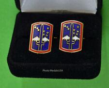 """172nd Infantry Brigade """"Blackhawk Brigade"""" Army Cuff Links - BDE cufflinks"""