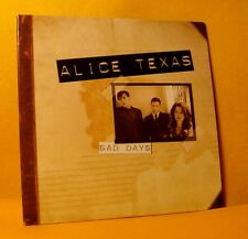 Cardsleeve Full CD ALICE TEXAS Sad Days 10 TR 2005 Blues Indie Rock PROMO !