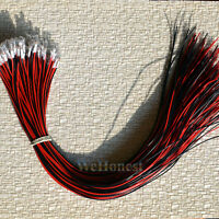 100 pcs Clear Pre-Wired 30cm wires Grain of Wheat Bulbs 3mm 12V 100mA Mini Bulbs