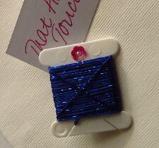 Dark Blue Silky Metallic Embellishing Twine Thread x 3m Wonderfil Dazzle