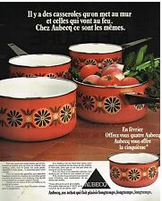 Publicité Advertising 1976 Les Casseroles Aubecq