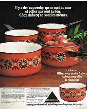 Publicité Advertising 1976 Les Casseroles Aubecq