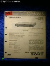 Sony Service Manual SDP 505ES Digital Surround Processor (#0950)