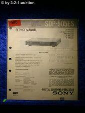 Sony Service Manual SDP 505ES Digital Surround Processor (#0950)