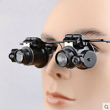 20x Magnifier Magnifying Eye Loupe Lens Glasses Repair Jeweler Watch+LED