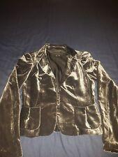 ZARA Ladies grey Velvet Jacket Blazer UK size s