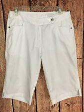 Callaway Golf Women's Sz 4 White Bermuda Golf Shorts Polyester N67