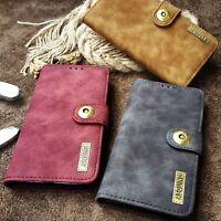 iPhone 5s Tasche mit Kartenfach Leder Synthetisch Magnet Etui Case Braun Schwarz