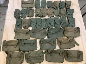 HUGE LOT OF 37 OLIVE GREEN MILITARY GENERAL POCKET AMMO POUCH