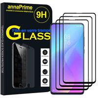 """3 Vitre Film Verre Trempe Protecteur d'écran NOIR pour Xiaomi Mi 9T Pro 6.39"""""""