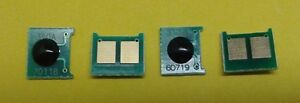 4 Black Toner Reset Chips for HP LaserJet CP1025nw M175NW M275 126A CE310A